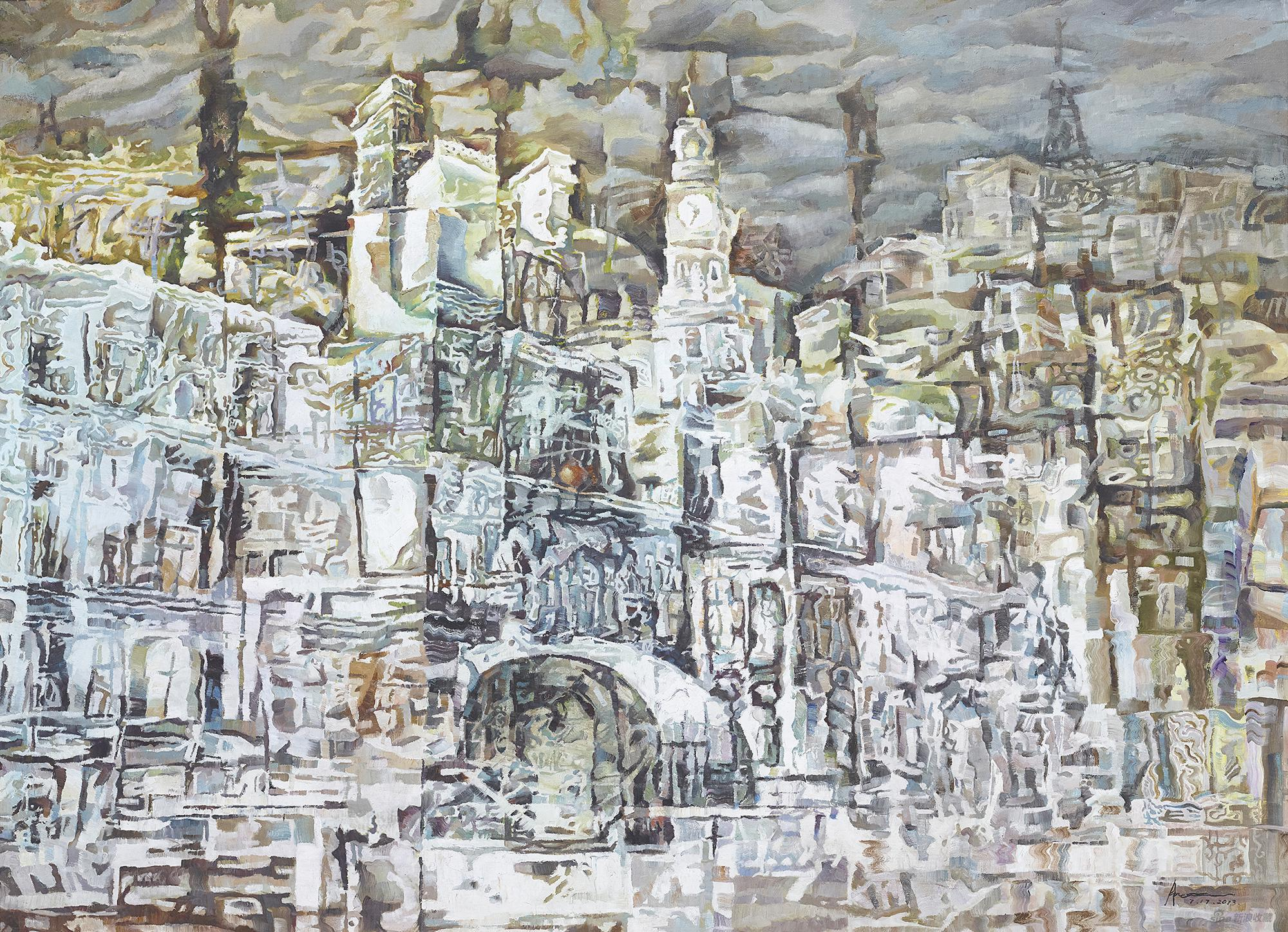 魔?都?Fascinating city2016年创作185cm×135cm