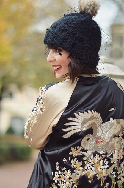 针织帽加面纱2