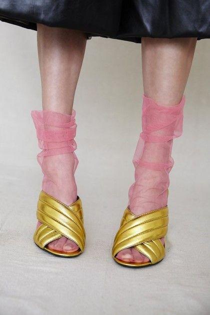粉色透明袜子