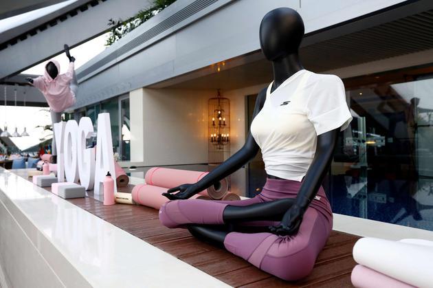 Yoga区域现场展示图