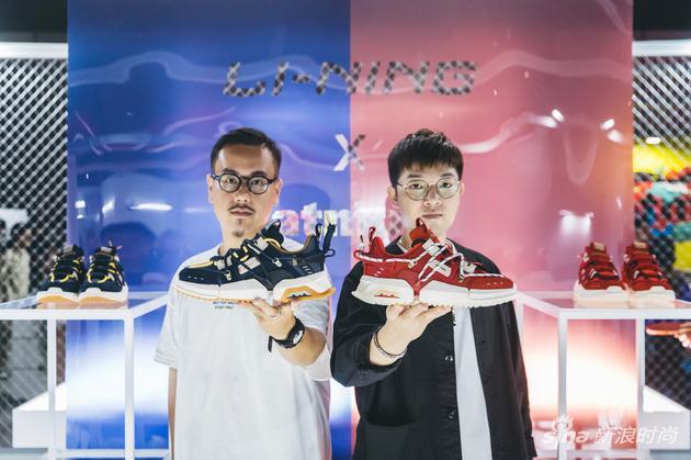 LI-NING x atmos联名鞋款盘古TITAN中日两国设计师