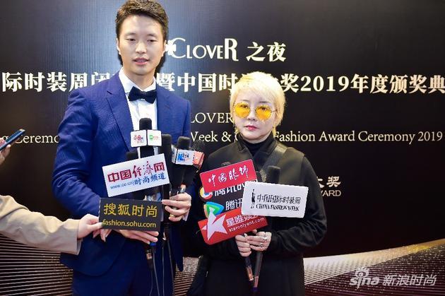韩国设计师协会会长洪恩珠接受采访