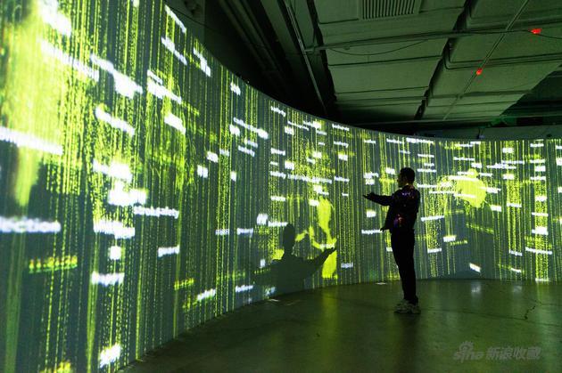 黄晓明与交互艺术装置