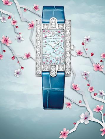 海瑞温斯顿第五大道Avenue Classic系列Cherry Blossom腕表