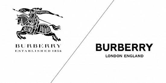 Burberry新舊Logo對比 圖片來源:Adweek