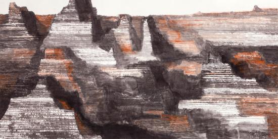 峡谷风情 大泽人 70cm×138cm 2012年