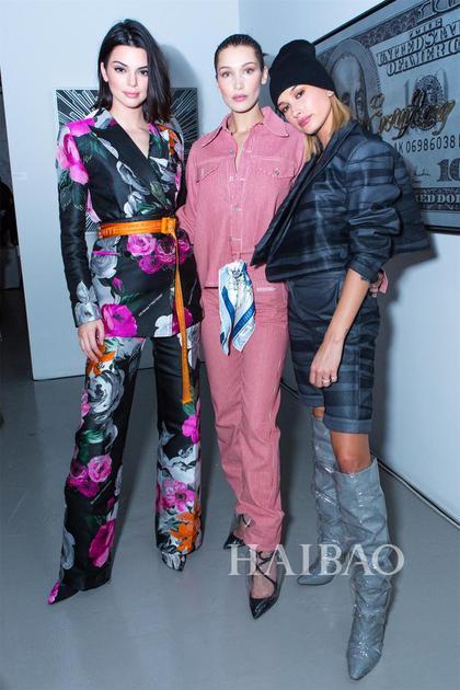 Kendall Jenner、Hailey Baldwin、Bella Hadid