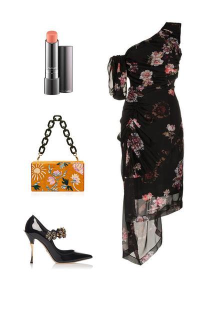 Preen by Thorton Bregazzi连衣裙;Dolce&Gabbana高跟鞋