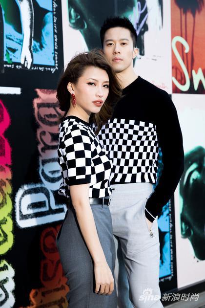 演员梁家成 Kent Leung及时尚达人兼明星造型师女友梁艾薇 Ivy Leung