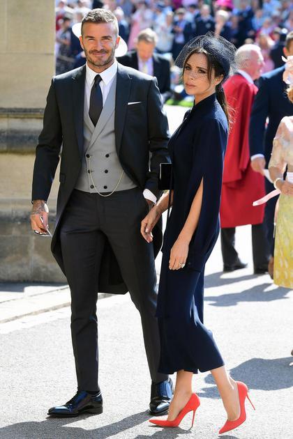 哈里王子婚礼上的贝克汉姆夫妇