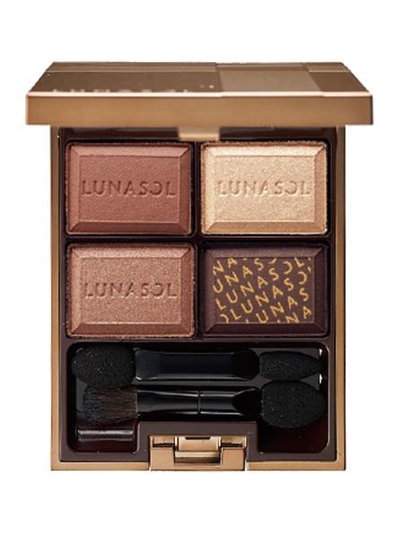 新款LUNASOL日月晶采四色眼影盘#02魅惑净化巧克力RMB268