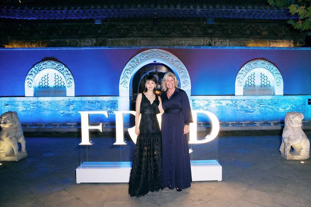 FRED斐登全球副总裁及艺术总监Valérie Samuel女士王子文合影