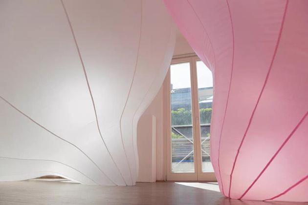 No。 84 / 布、鼓风机/ 2016 / Apartment of Art,慕尼黑,德国 / (摄影 / 凌伟隆)