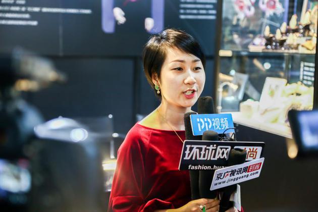 设计师陈瑾接受采访