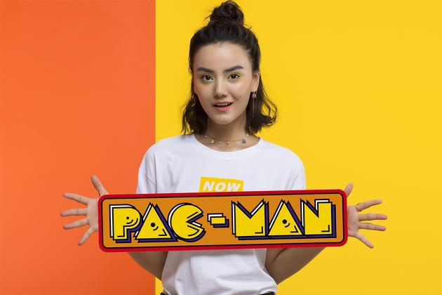 HEFANG × Pac-Man 吃豆人系列迷宫项链、吃豆人耳线耳环(粉幽灵)
