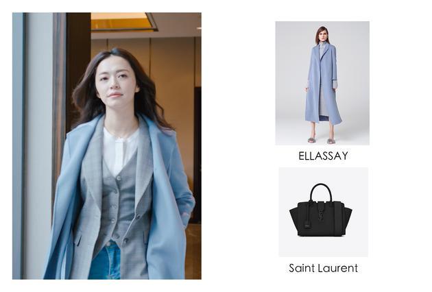 淺藍色的大衣更適合春天