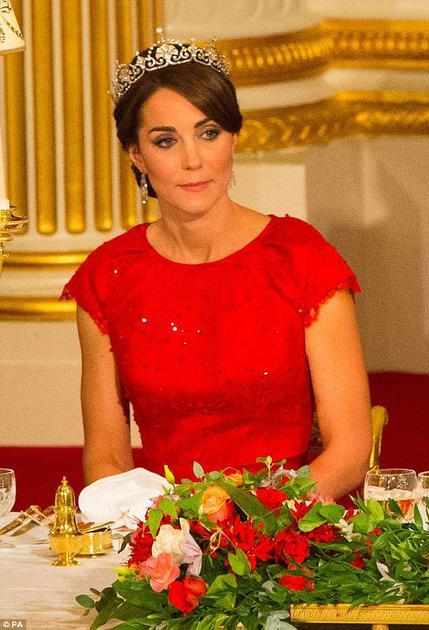 2015年凯特第一次参加皇室国宴