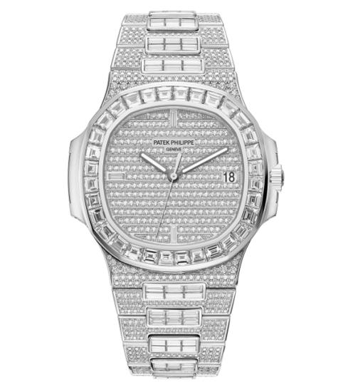 百达翡丽Ref.5719 18K白金镶钻腕表