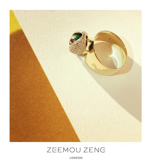 """ZEEMOU ZENG""""眼""""系列最新推出的戒指"""