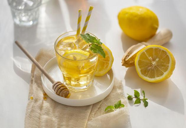 肌肤,维他命,柠檬水