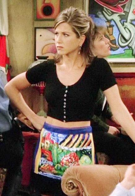Rachel穿露腰装