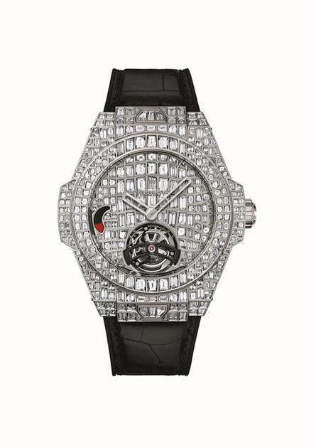 宇舶表BIG BANG珠宝巨鳄陀飞轮腕表