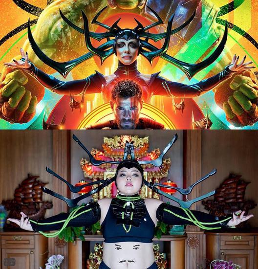 《雷神3》海拉 Vs 衣架+豆角