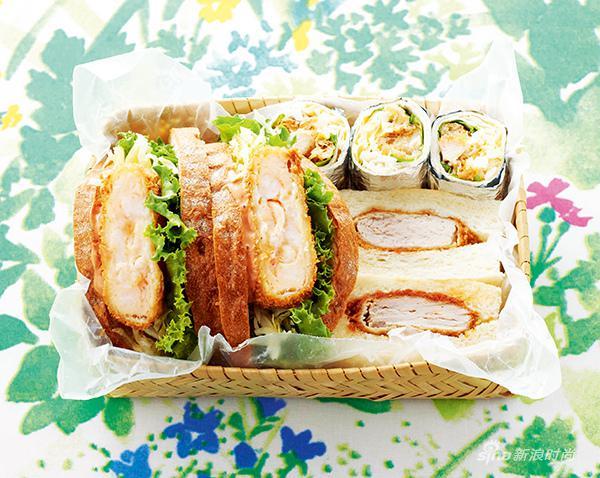 颜值高的三明治让人看起来就很开心