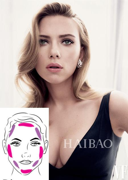 钻石脸型修容方法