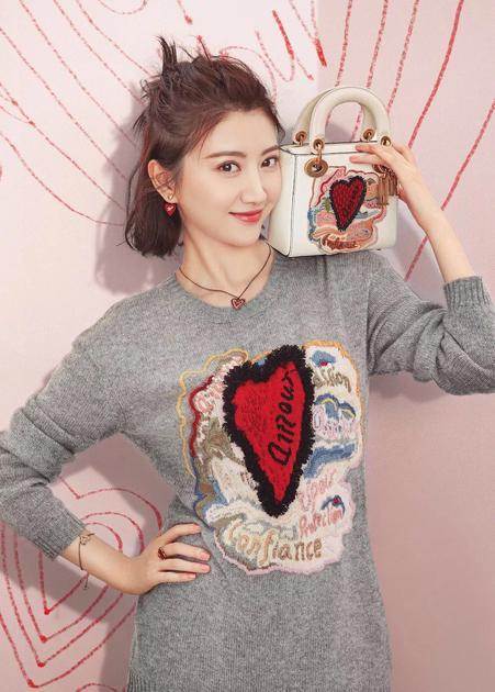 景甜演绎Dior七夕情人节限量手袋
