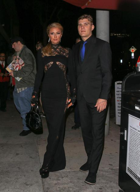 Paris Hilton与未婚夫Chris Zylka