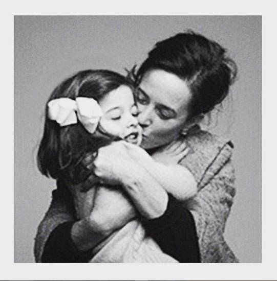 Kate Spade與女兒Frances