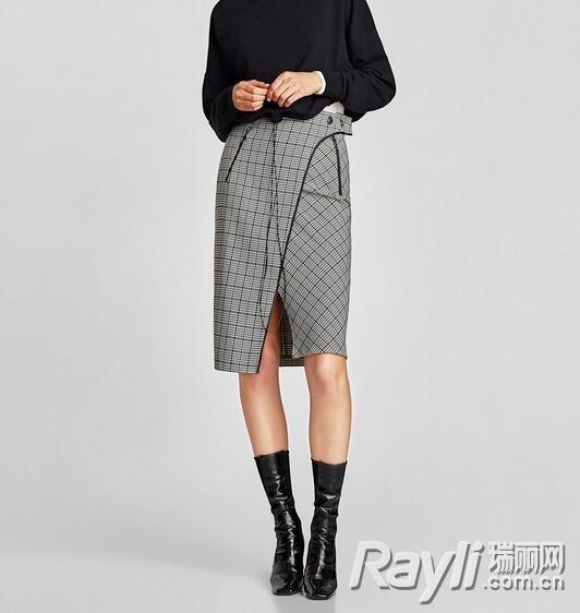 Zara撞色格子裙 259 RMB