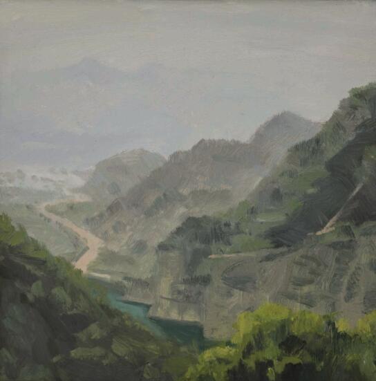 卢征远《绿水》布面油画 50x50cm 2014