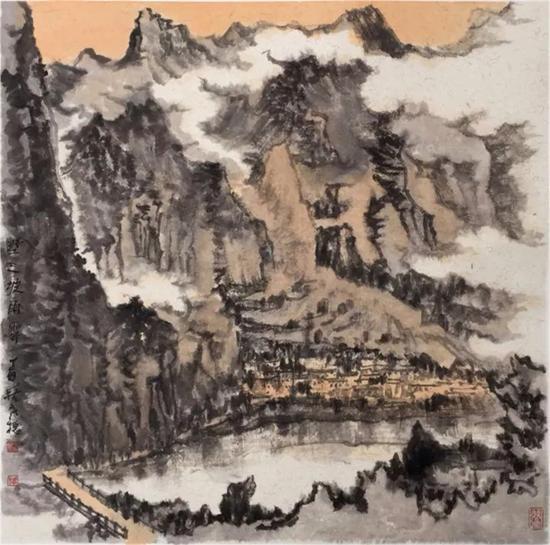 《野三坡雨霁》68×68cm