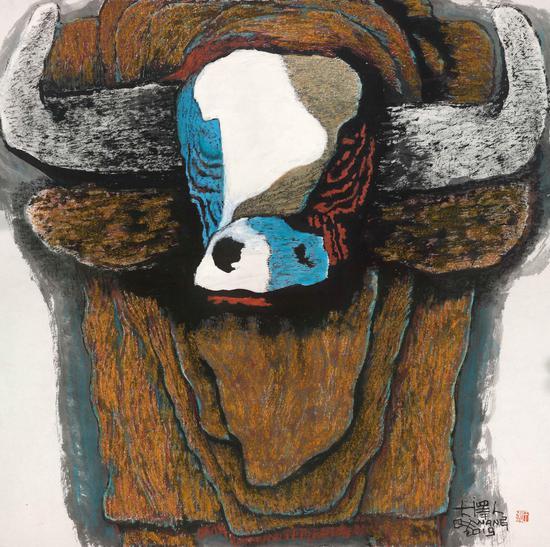 牛的故事 大泽人 70.2x70.5cm 2019年1
