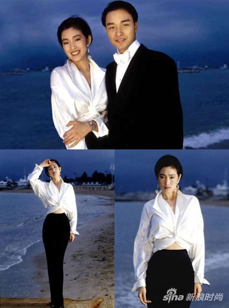 1993年鞏俐在戛納 這一身簡約的黑白造型成為永恒的經典
