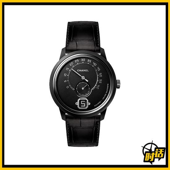 香奈儿MONSIEUR DE CHANEL黑色陶瓷腕表
