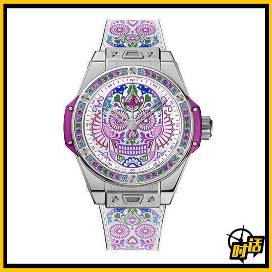 宇舶表Big Bang一键式卡翠娜骷髅腕表