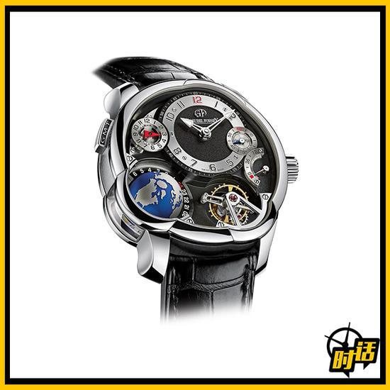 高铂富斯 GMT EARTH腕表,白金限量33枚