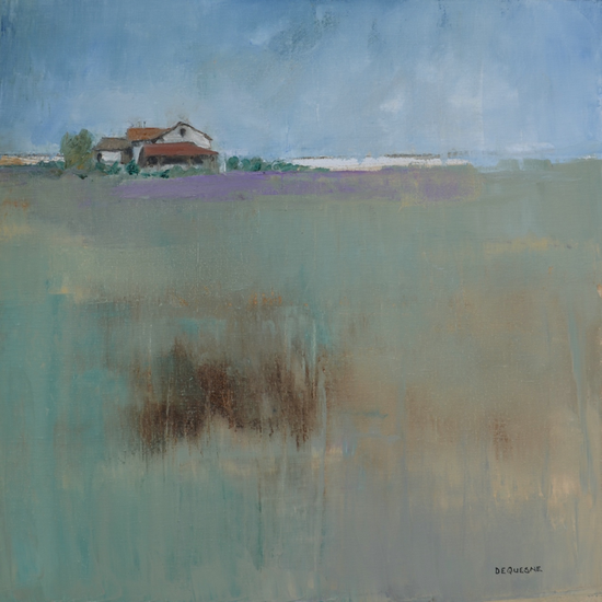 《远离家乡》 布面油画 80x80cm 2017年