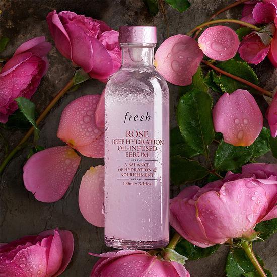 Fresh馥蕾诗玫瑰润泽密集保湿双萃精华 黄金水油比例 深彻保湿滋养
