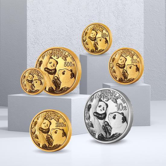 2021年熊貓普制金銀幣 就在小米有品