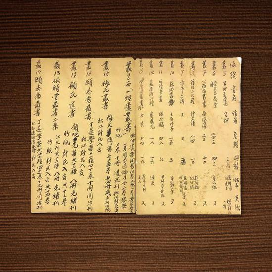 (图5:王荫嘉手抄书目单)