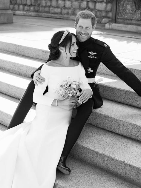 婚礼上幸福的二人