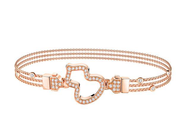 Wulu 18K玫瑰金钻石链扣玫瑰金钻石手链 RMB 31,800