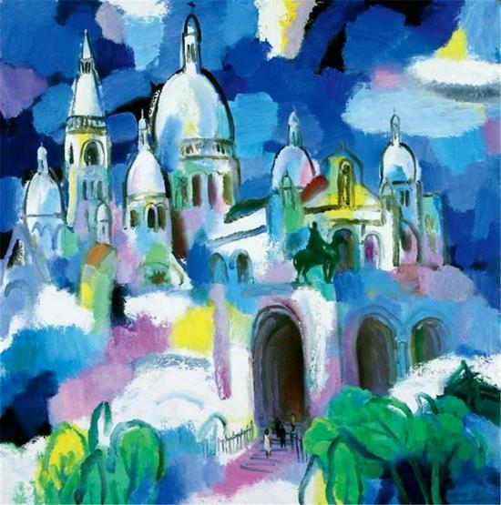 1999 蒙马特高地圣心教堂  100×100cm 布面油画