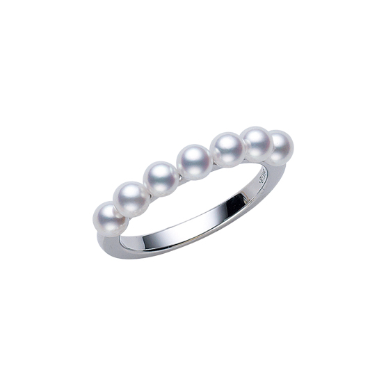 MIKIMOTO 18K白金日本Akoya珍珠戒指 RMB 14,700 (PR01426U 珍珠直径约: 3.50mm)