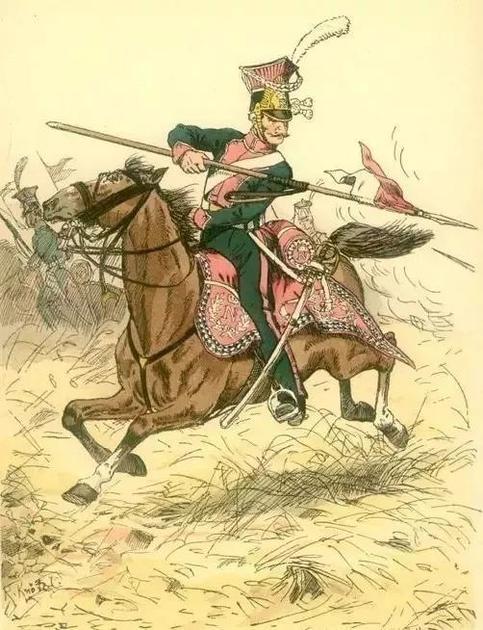 拿破仑的波兰枪骑兵团就身穿粉红色军装