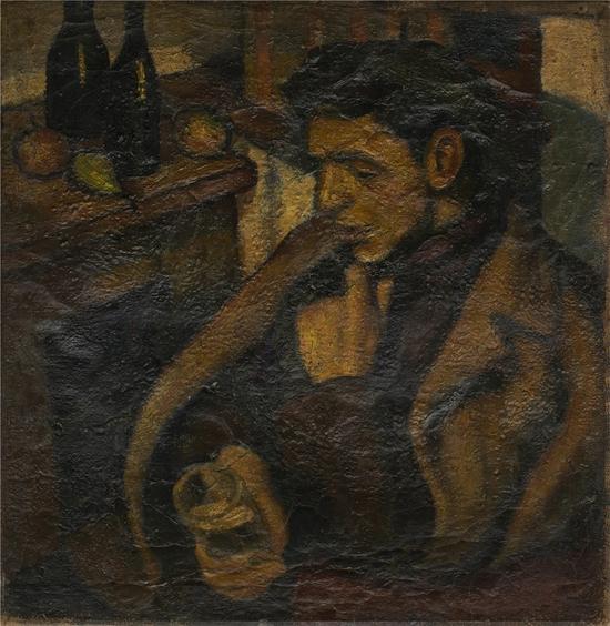 1960 友人邓祖仪  47×46cm 布面油画